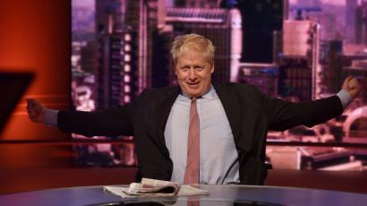 Boris Johnson on the set of The Andrew Marr Show