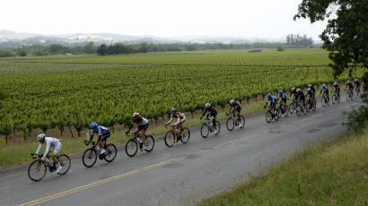 Cyclists at the Tour of California