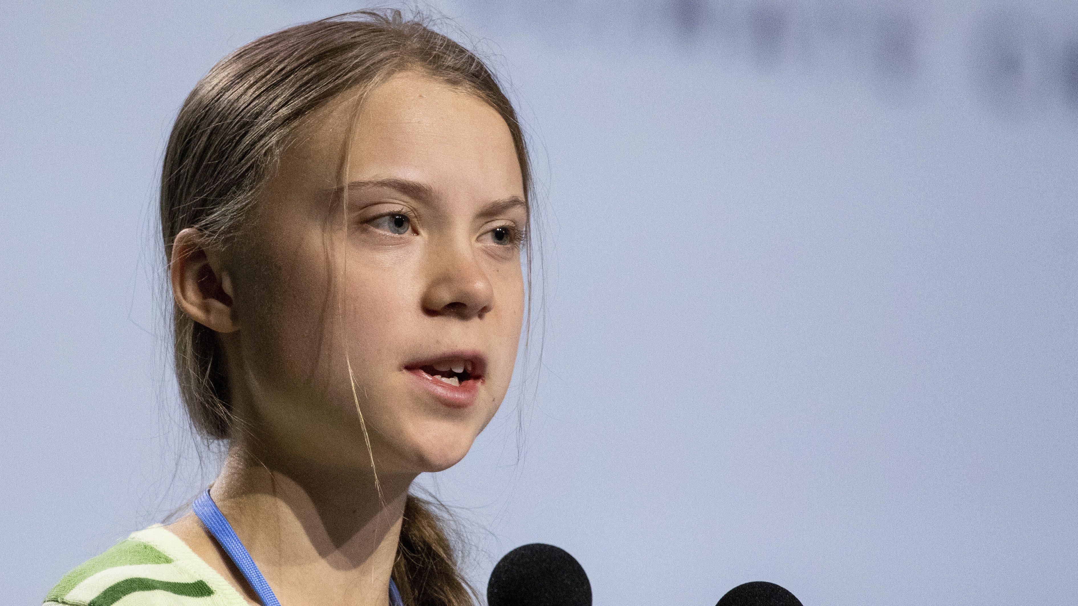 Greta Thunberg speaks at COP25