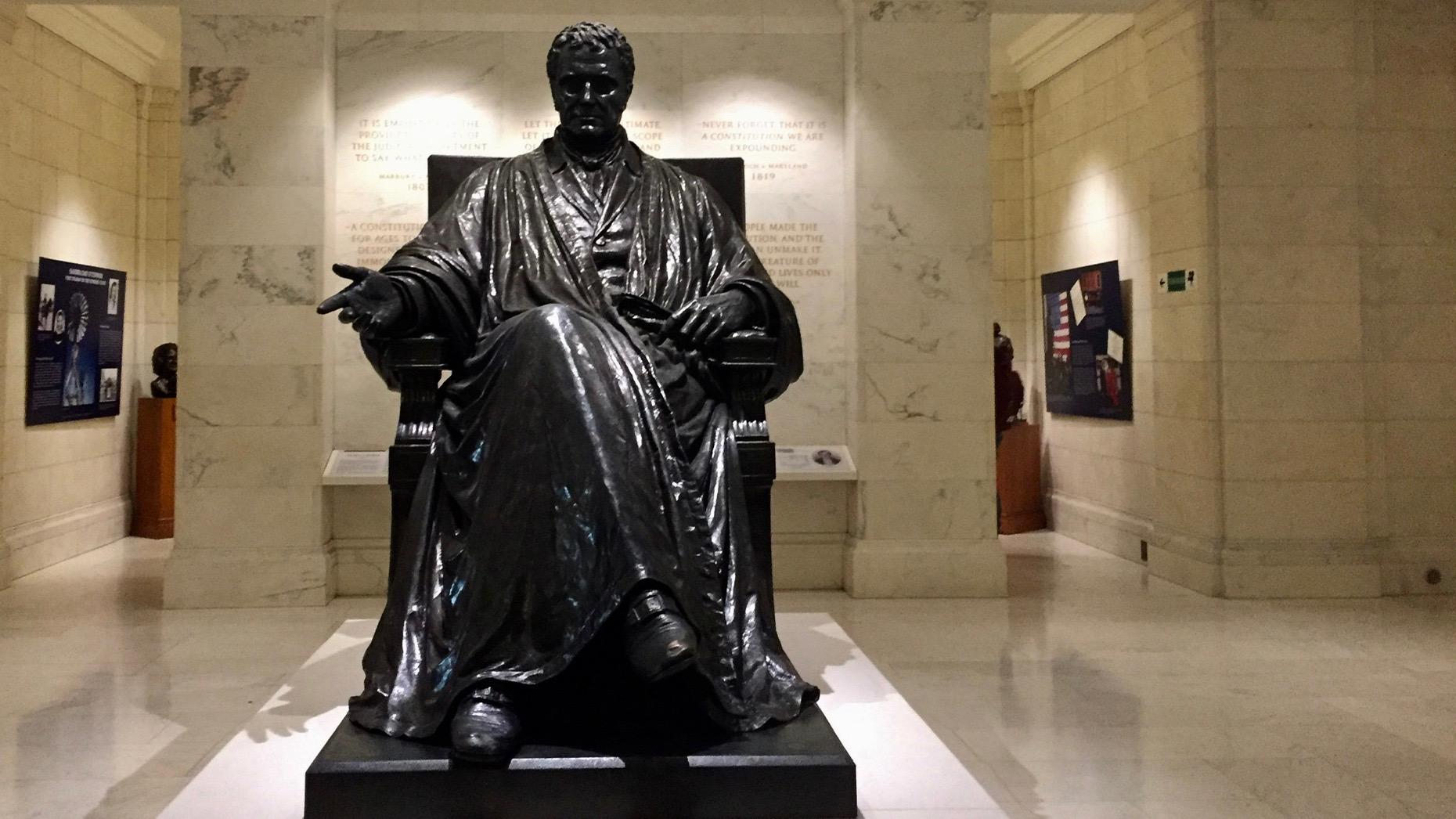 Statue inside SCOTUS.