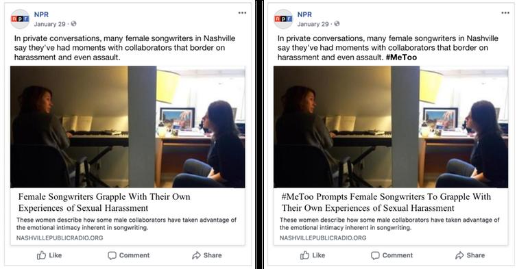 News posts screenshot