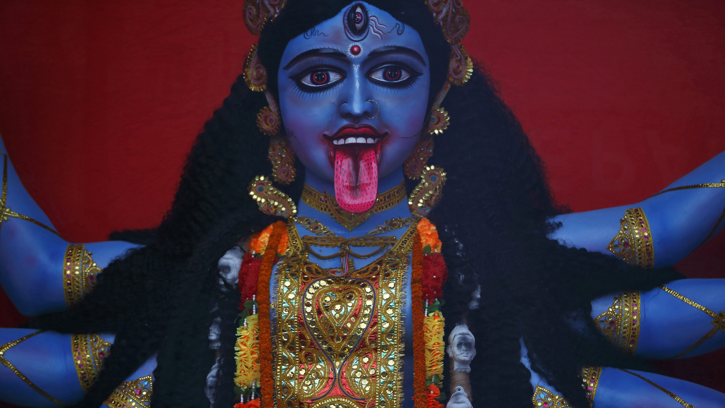 1X Photo Frame Picture Indian God Mahaa Kali God Bless You