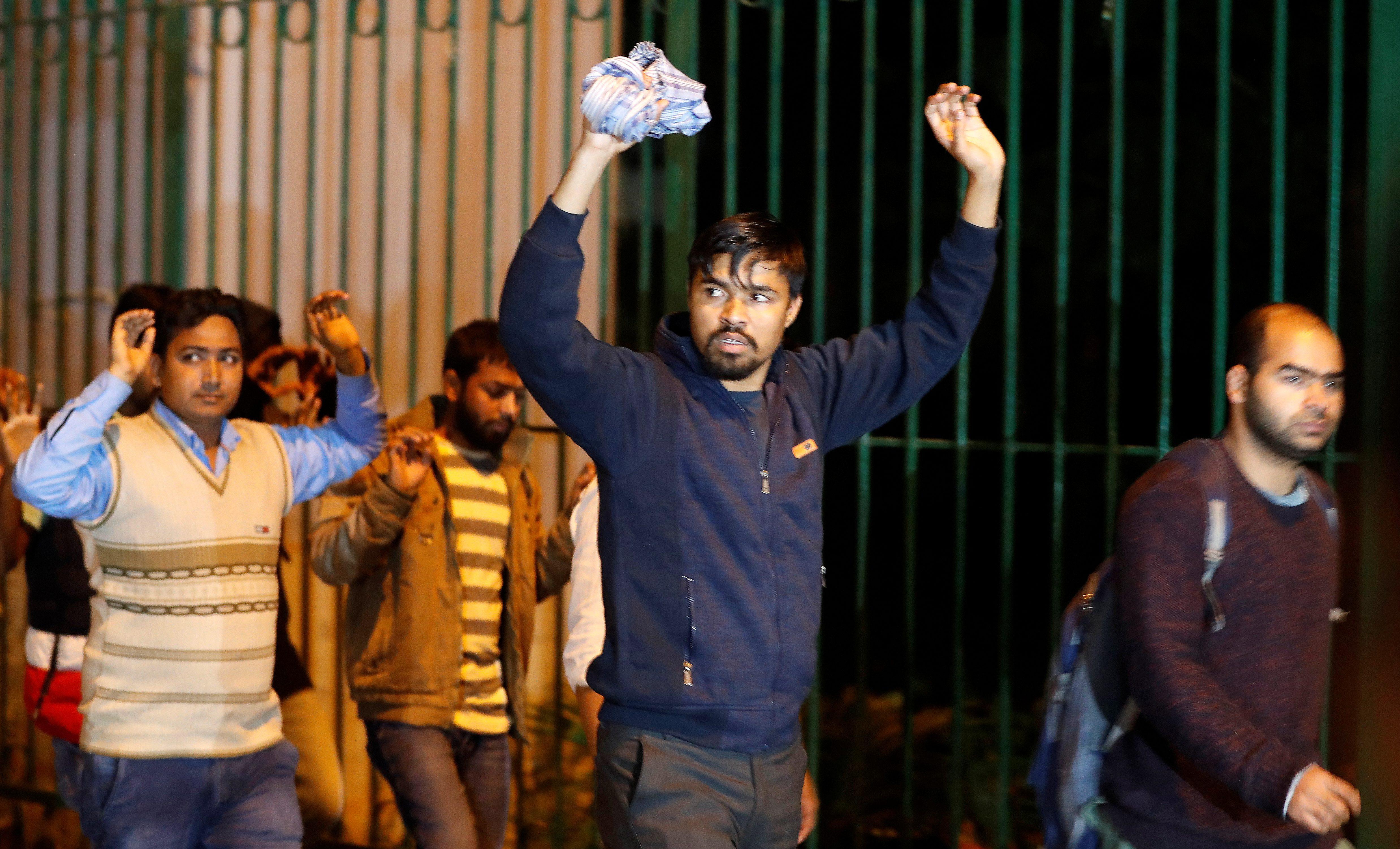 I saw Delhi police target Jamia Millia Islamia's Muslim students
