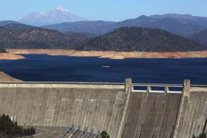 Shasta Lake, 100 feet (30 meters) below its normal levels in 2014.