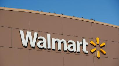 Walmart's logo is seen outside one of its stores
