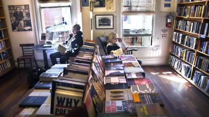 City Lights bookstore in San Francisco, CA—one of many shops where booksellers received Patterson's holiday bonuses.