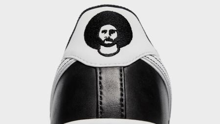 Colin Kaepernick's silhouette stares out from the heel tab of Nike's new sneaker