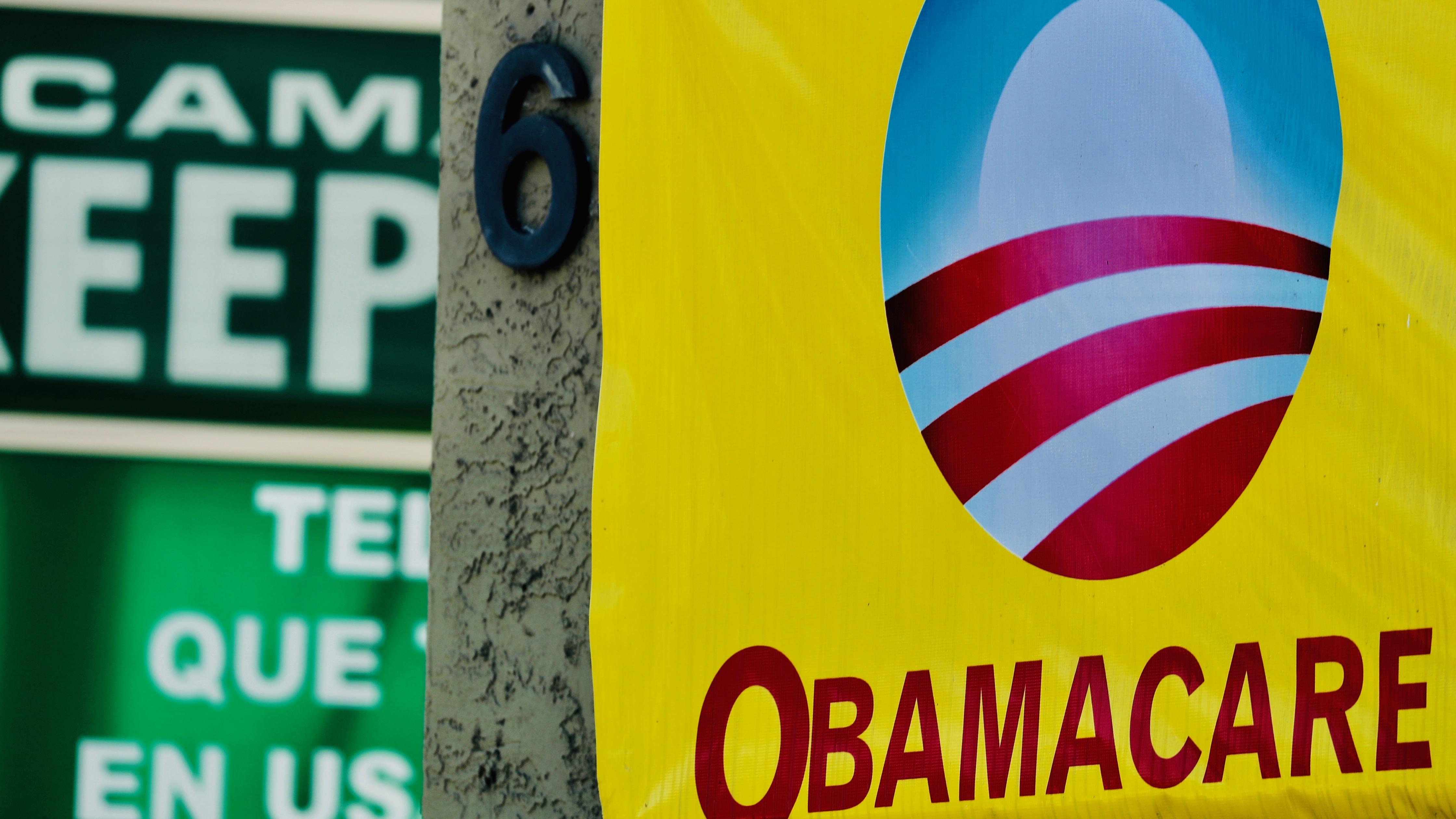 Obamacare sign.