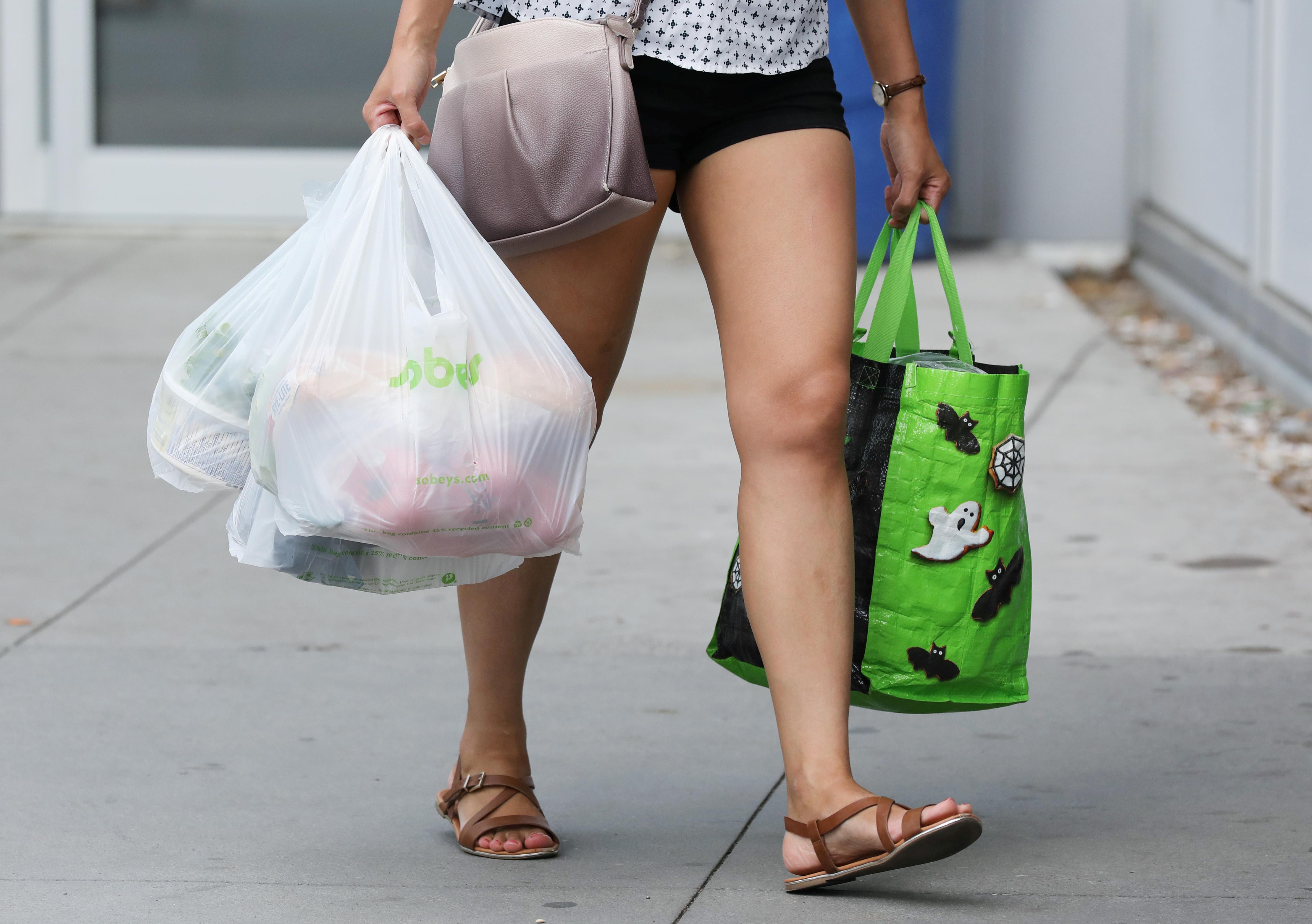 Plastic-bag overload.
