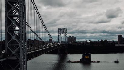George Washington Bridge as seen from Fort Lee, New Jersey.