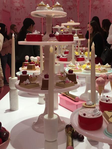A room full of fake desserts at the Museum of Ice Cream