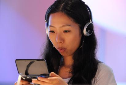 A gamer at the Electronic Entertainment Expo (E3)