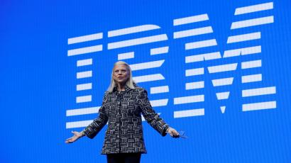 Ginni Rometty, IBM chairman, president and CEO, speaks during a keynote address at the 2019 CES in Las Vegas