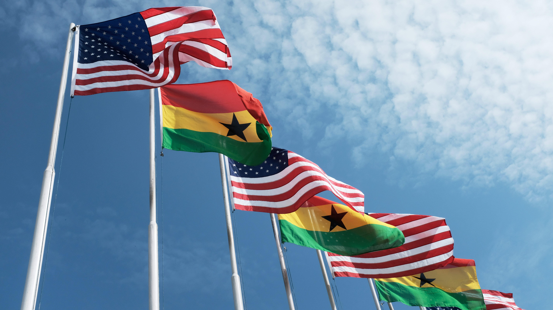 Ghana-US Flags
