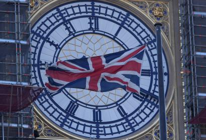 The face of the Big Ben clock tower.
