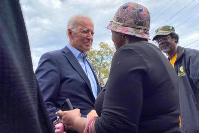 Democratic U.S. presidential candidate and former Vice President Joe Biden campaigns in Abbeville, South Carolina