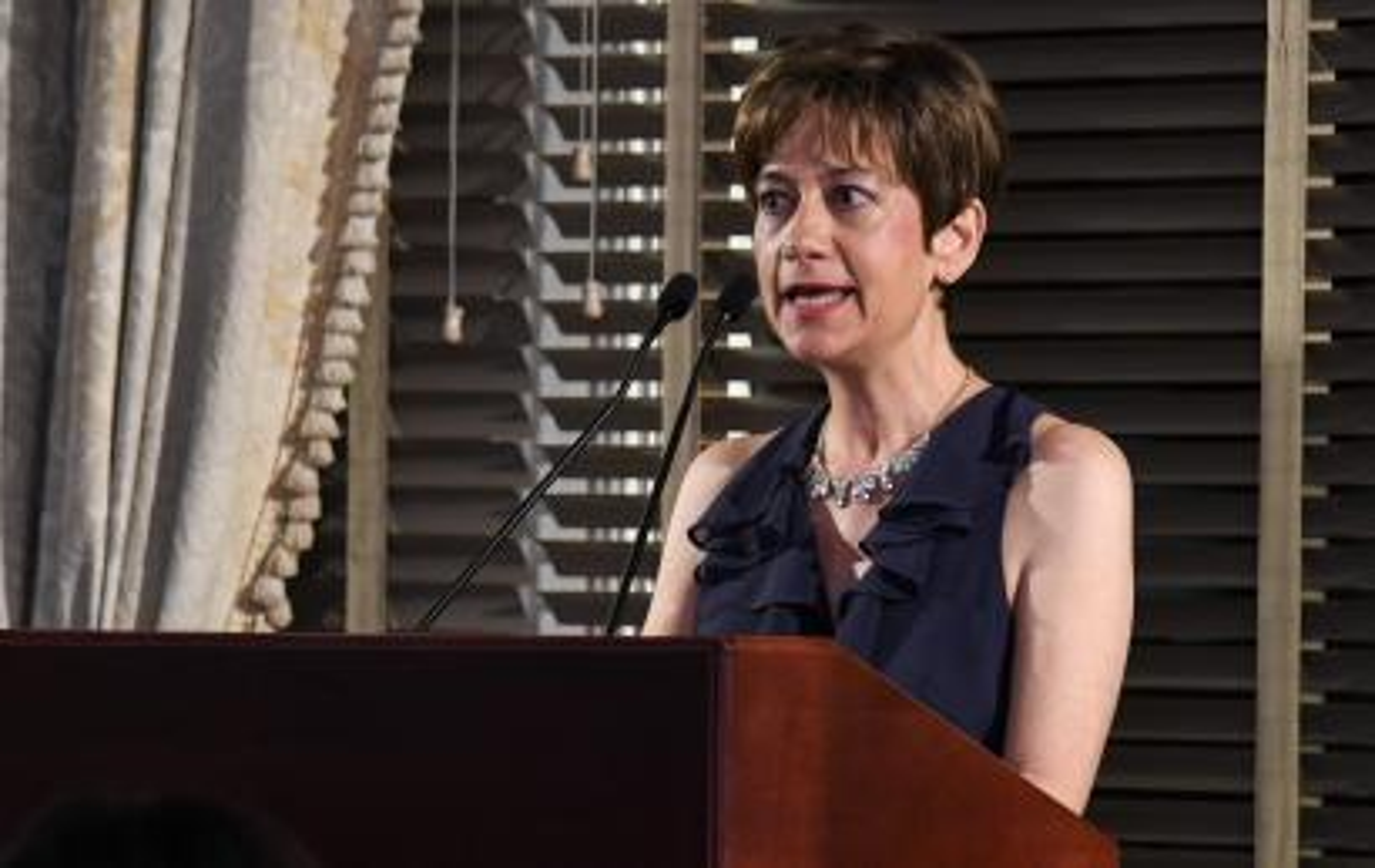Xana Antunes speaking at Newswomen Club