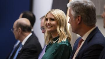 Senior adviser to the President, Ivanka Trump, listens during a meeting between President Donald Trump and Pakistani Prime Minister Imran Khan at the World Economic Forum, Tuesday, Jan. 21, 2020, in Davos, Switzerland.