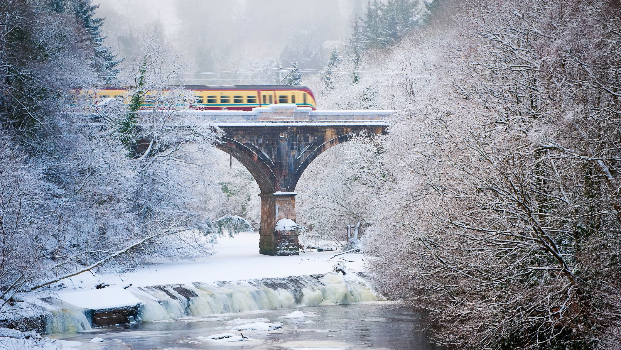Train travel means fewer emissions and more scenery.