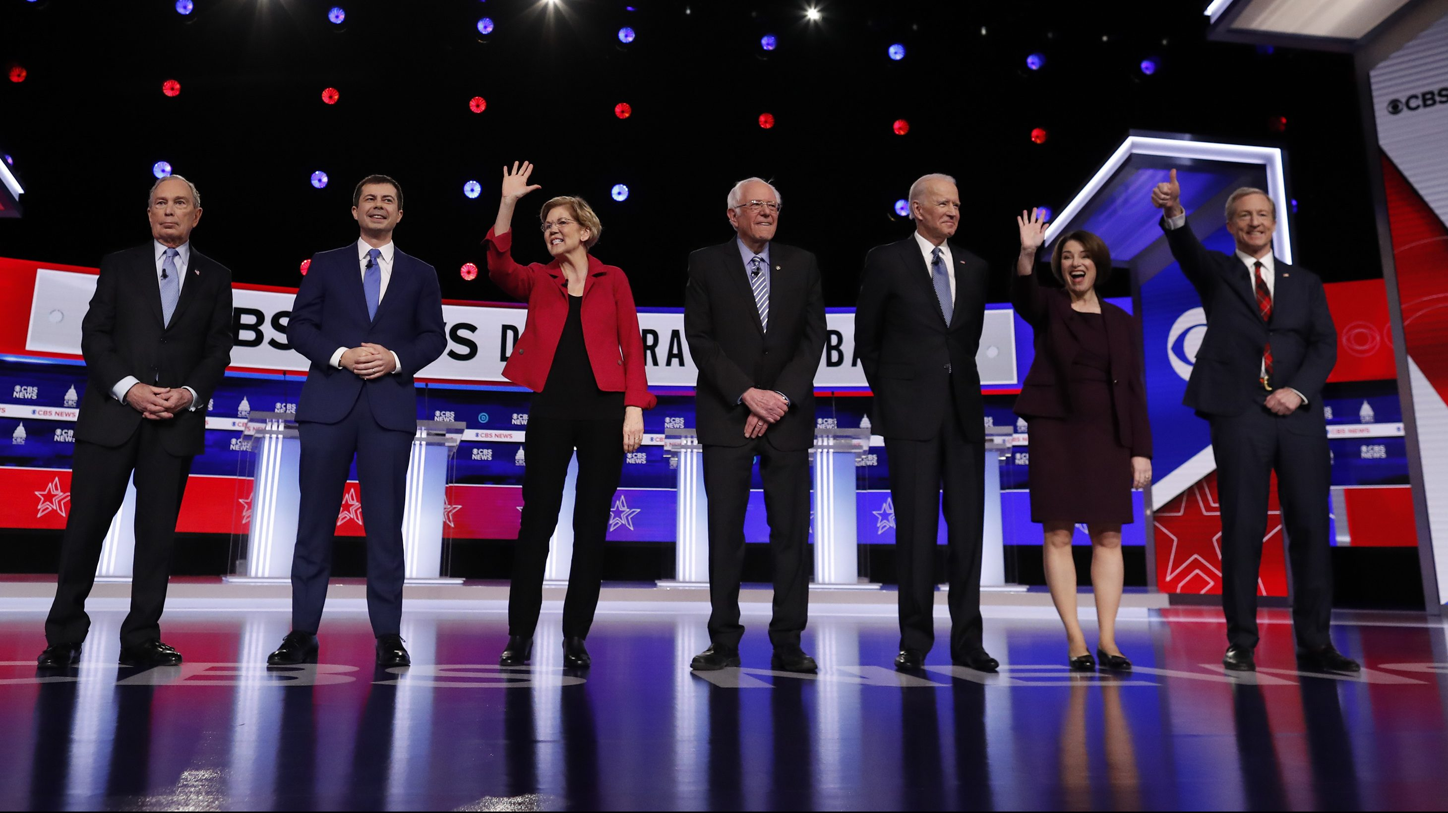 US Democratic 2020 presidential candidates take the stage for the tenth presidential debate