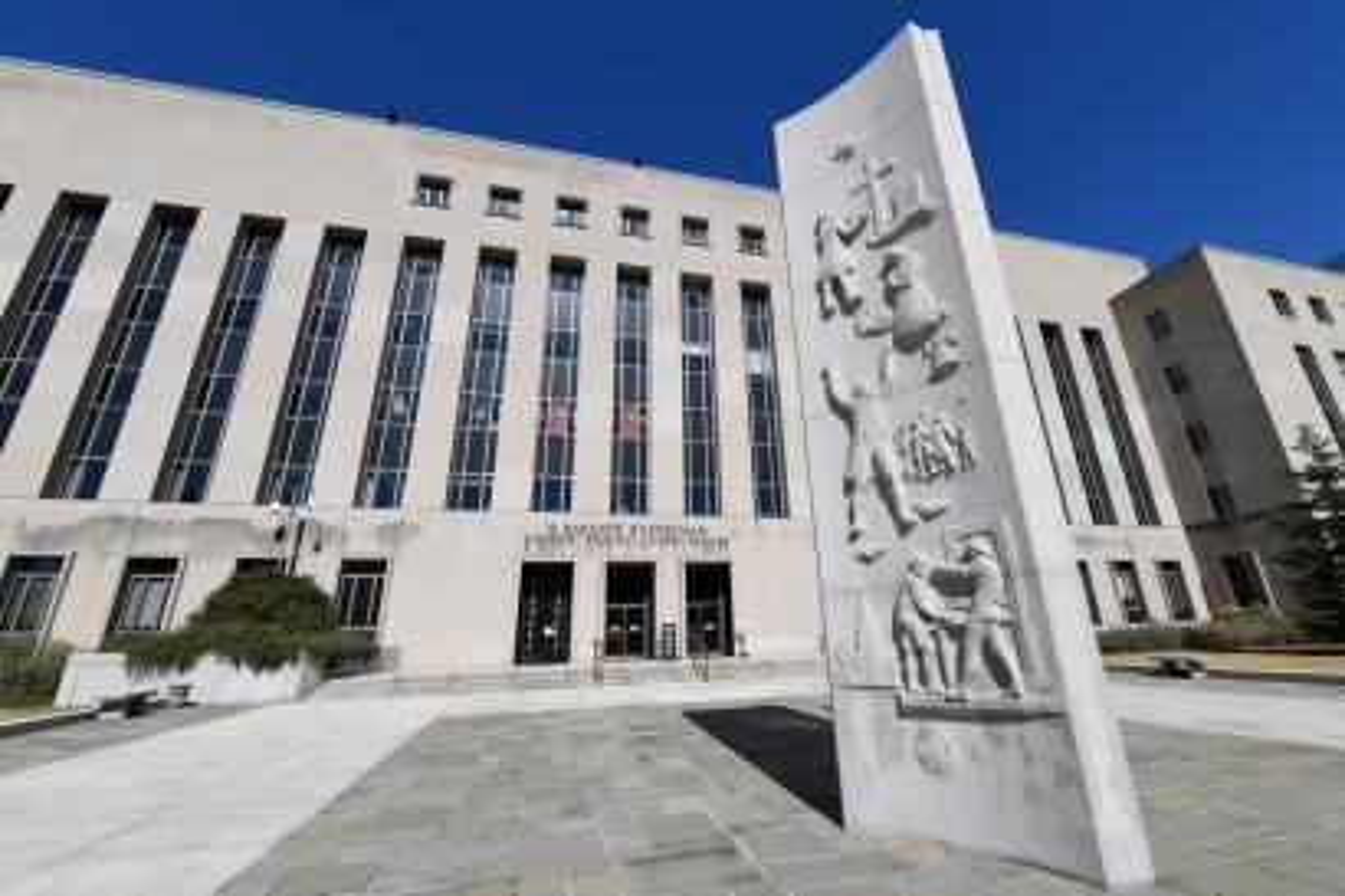 A view of the E. Barrett Prettyman Courthouse in Washington