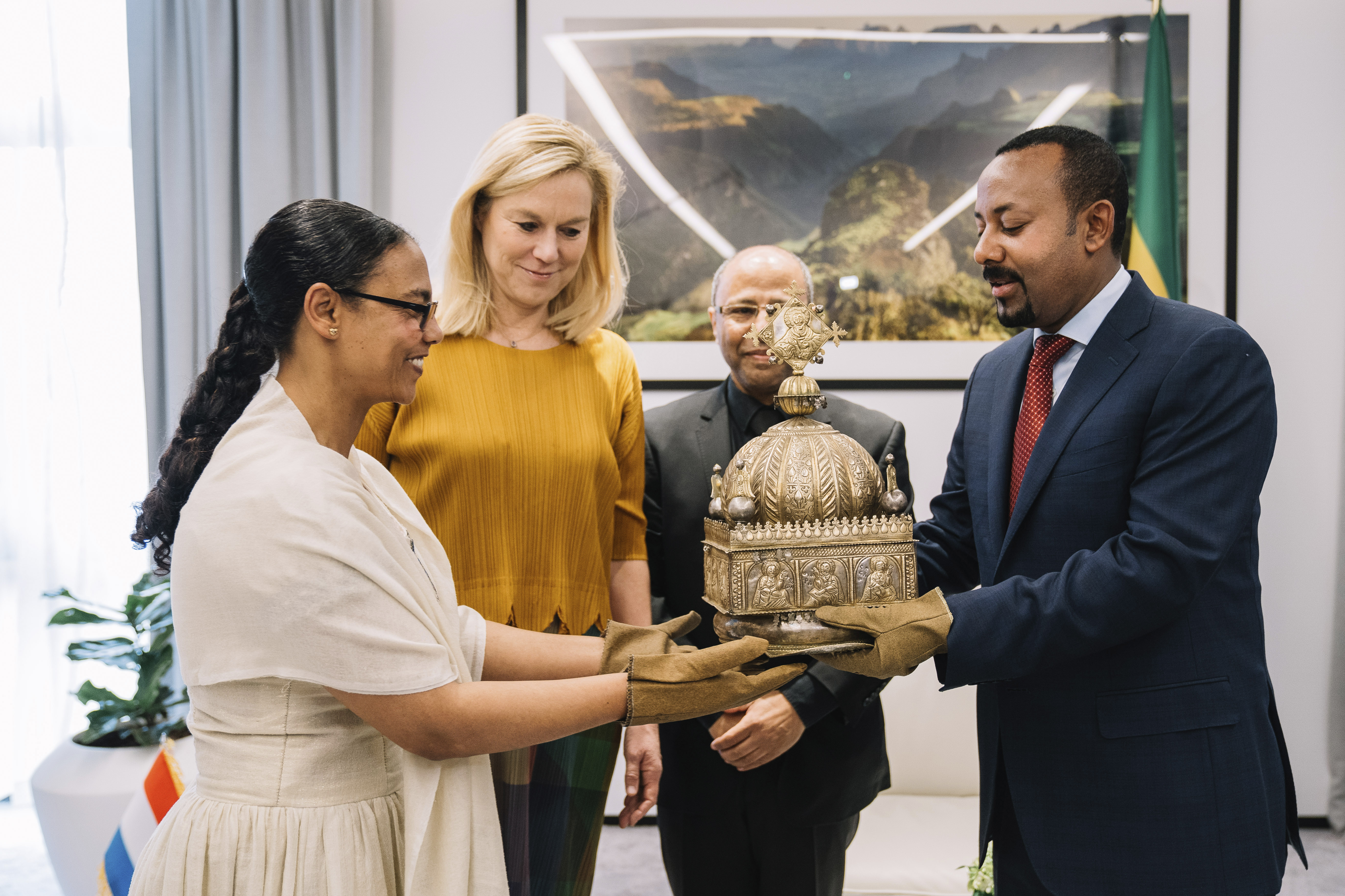 How a political refugee found a lost 18th century Ethiopian bronze crown and took it back home