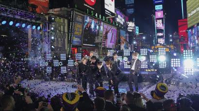 BTS performing in New York City