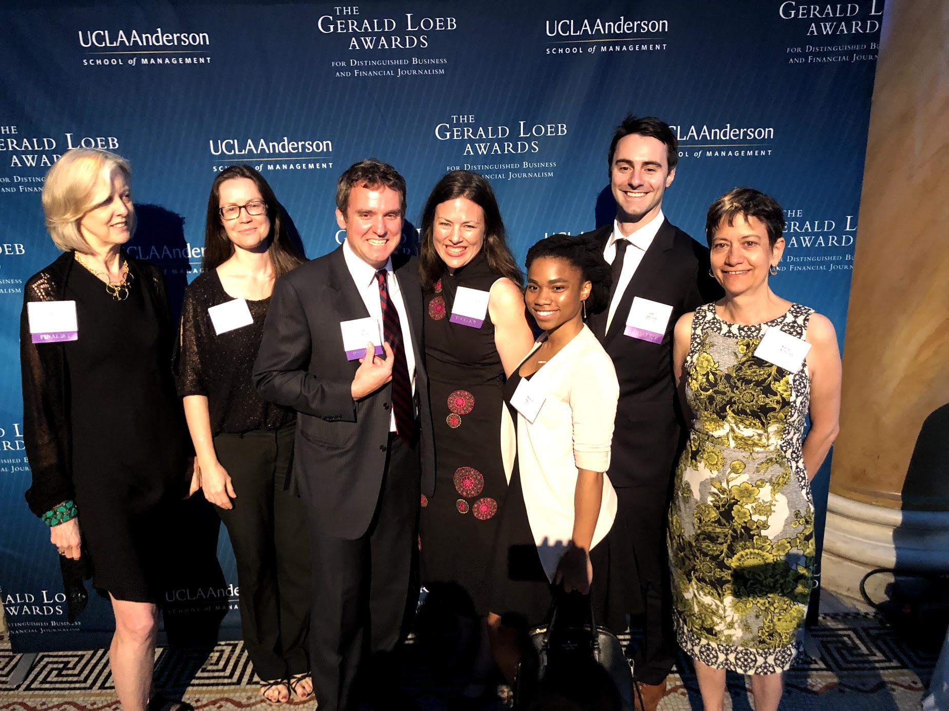 Quartz editorial staff at the Gerald Loeb Awards in 2019