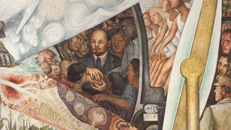 America's most controversial office-lobby mural has been resurrected