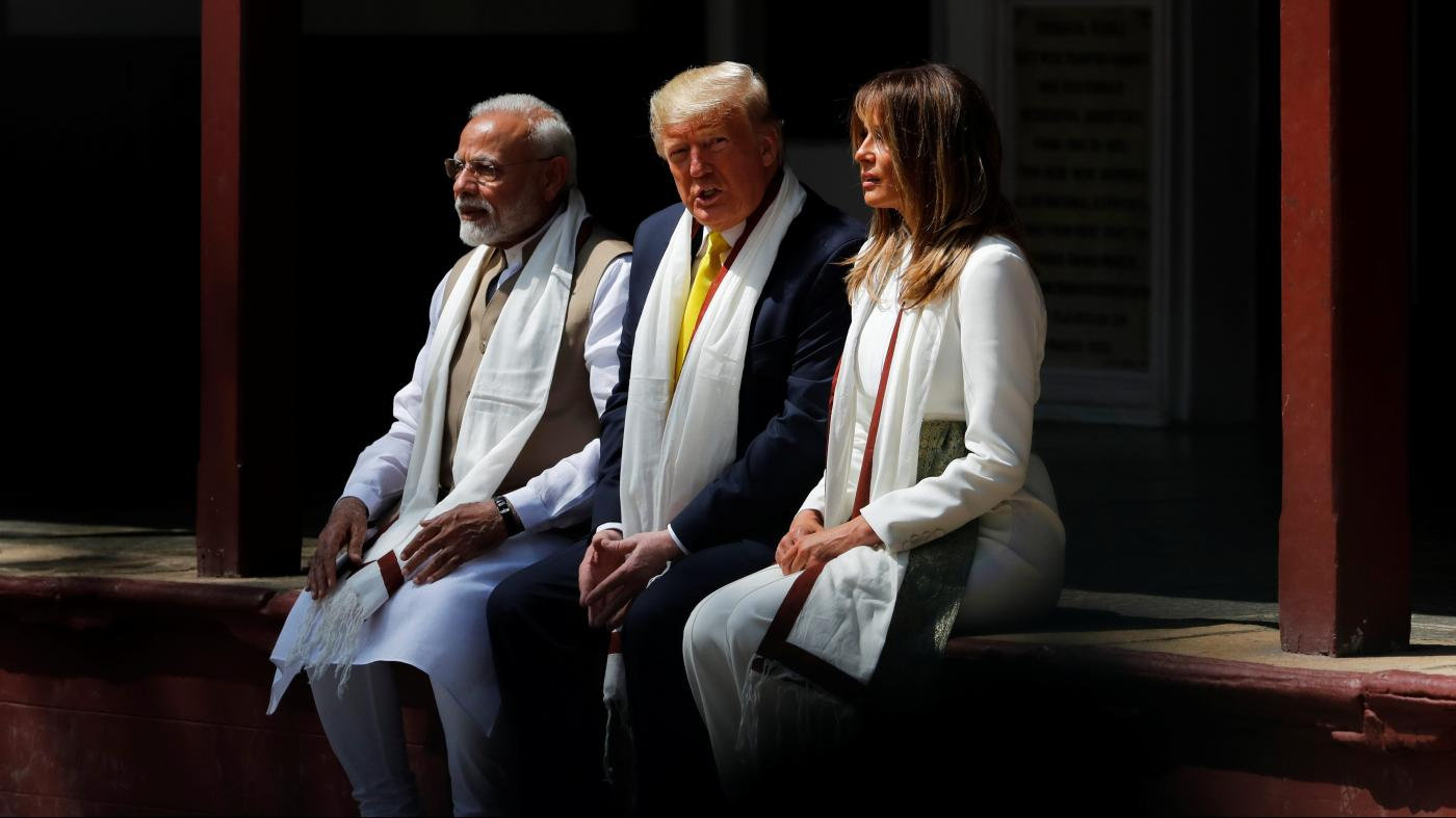 Gandhi's former Sabarmati home remained a sanctuary of calm amid Trump's visit