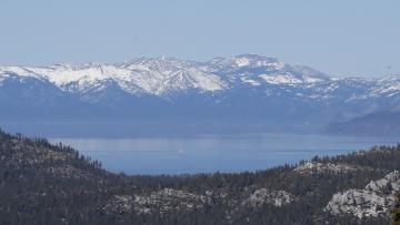 A view of Lake Tahoe.