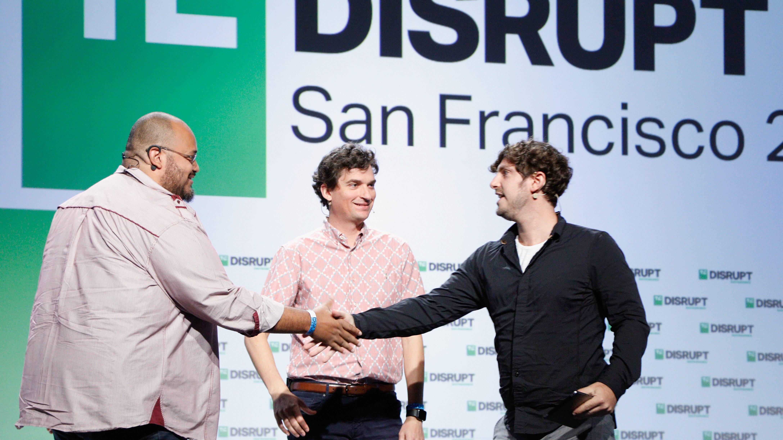 Y Combinator Partners Michael Seibel and Dalton Caldwell, and moderator Josh Constine speak at TechCrunch Disrupt SF 2018.