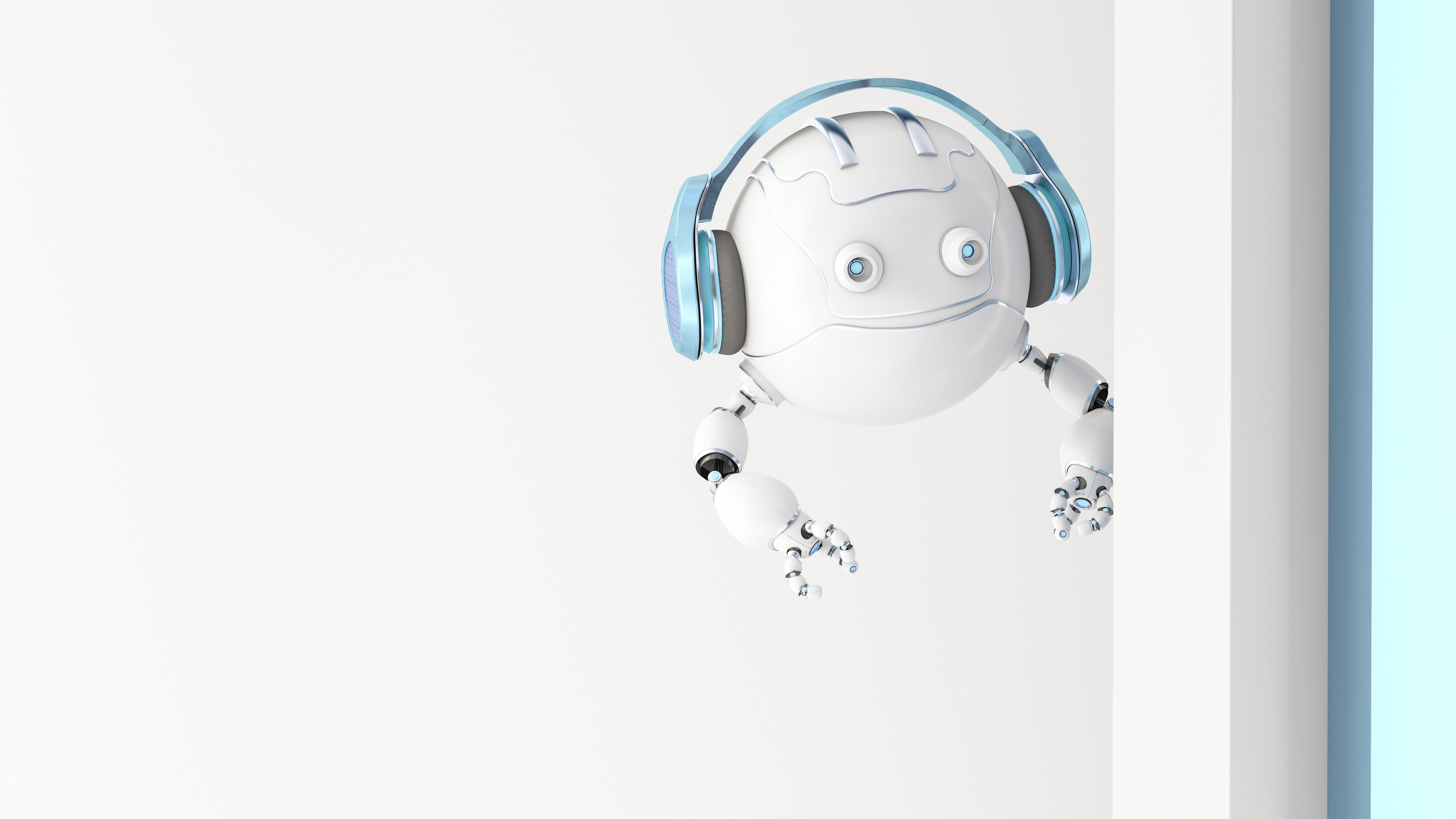 Drone wearing headphones.