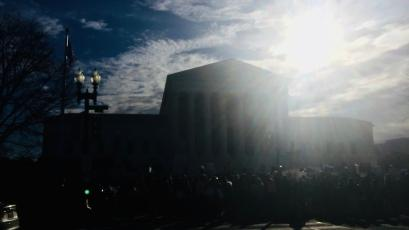 SCOTUS obscured by sun.