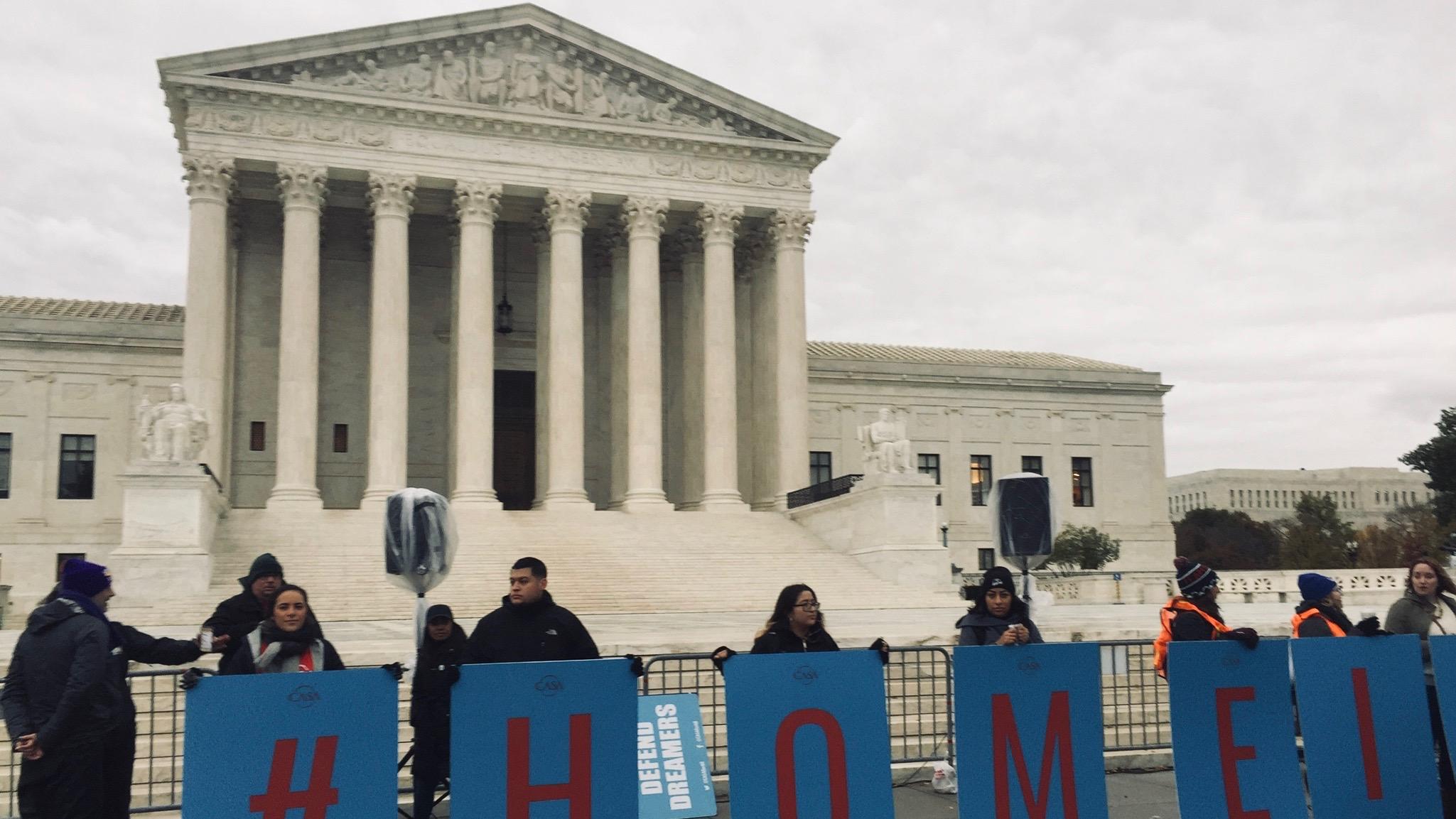 DACA recipients in front of SCOTUS/