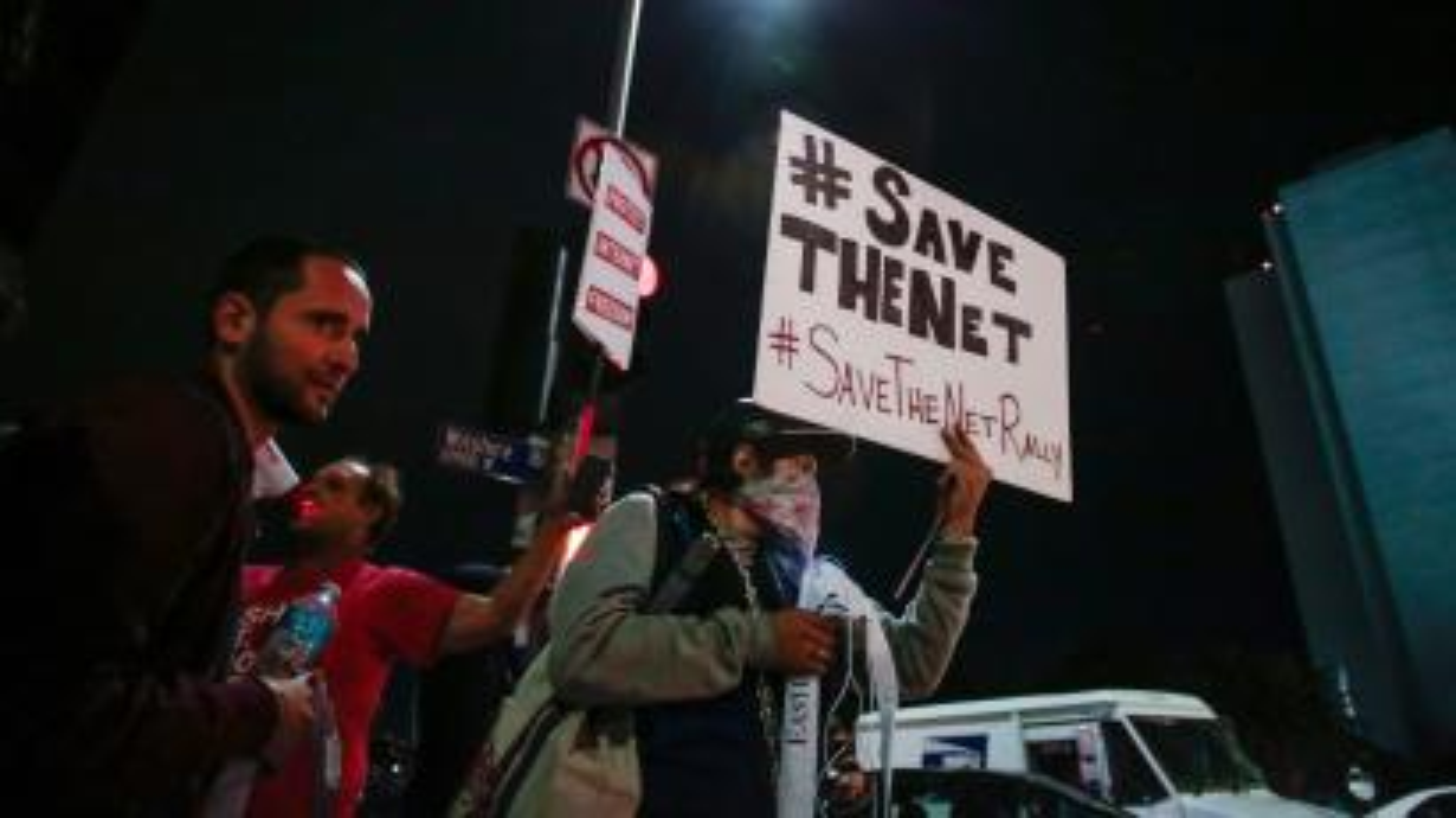 Net neutrality protests in LA, 2017.