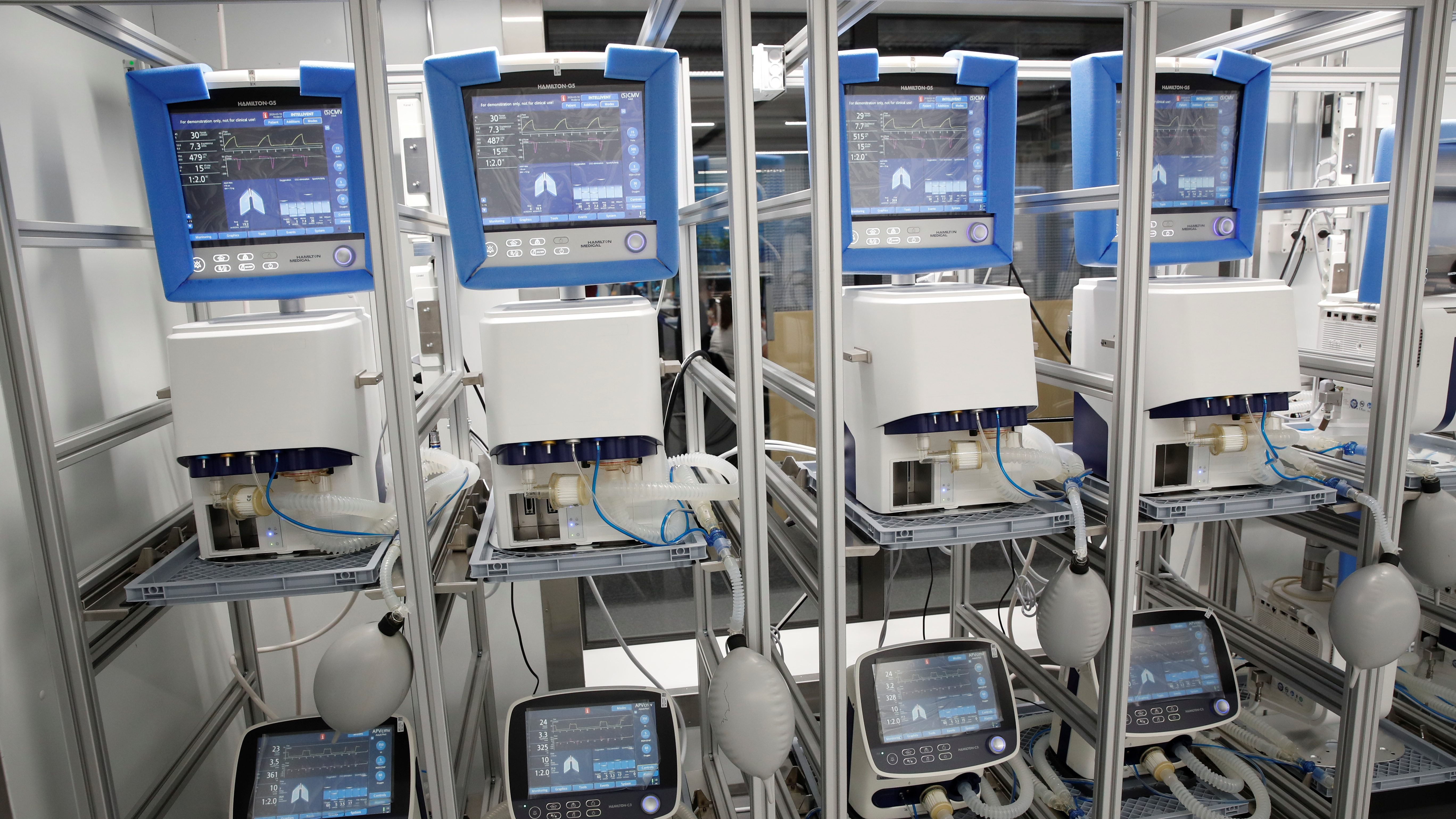 Four ventilators in a row.