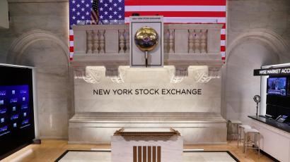 The NYSE trading floor.