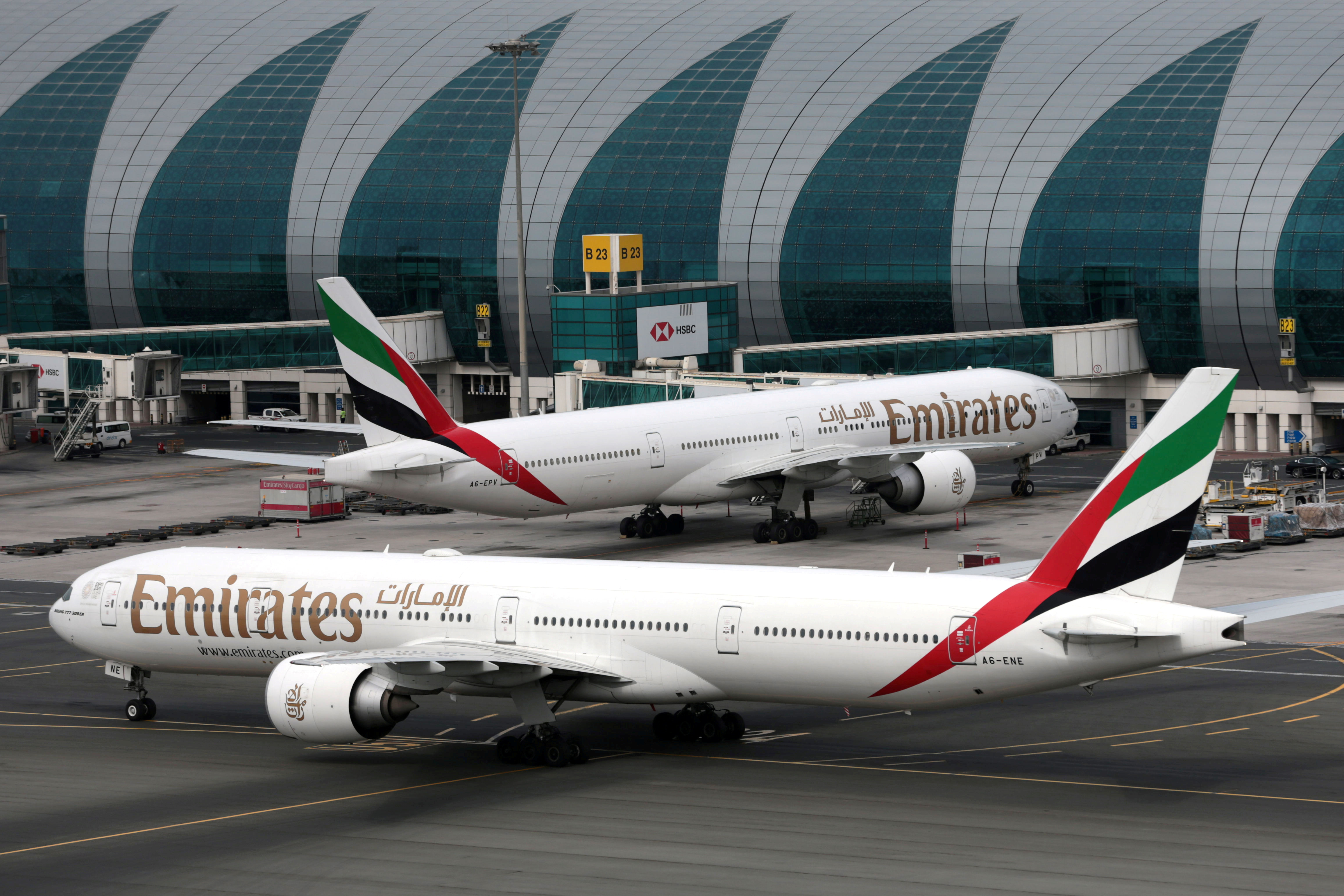 Emirates has responded to coronavirus pandemic with drastically reduced flights.