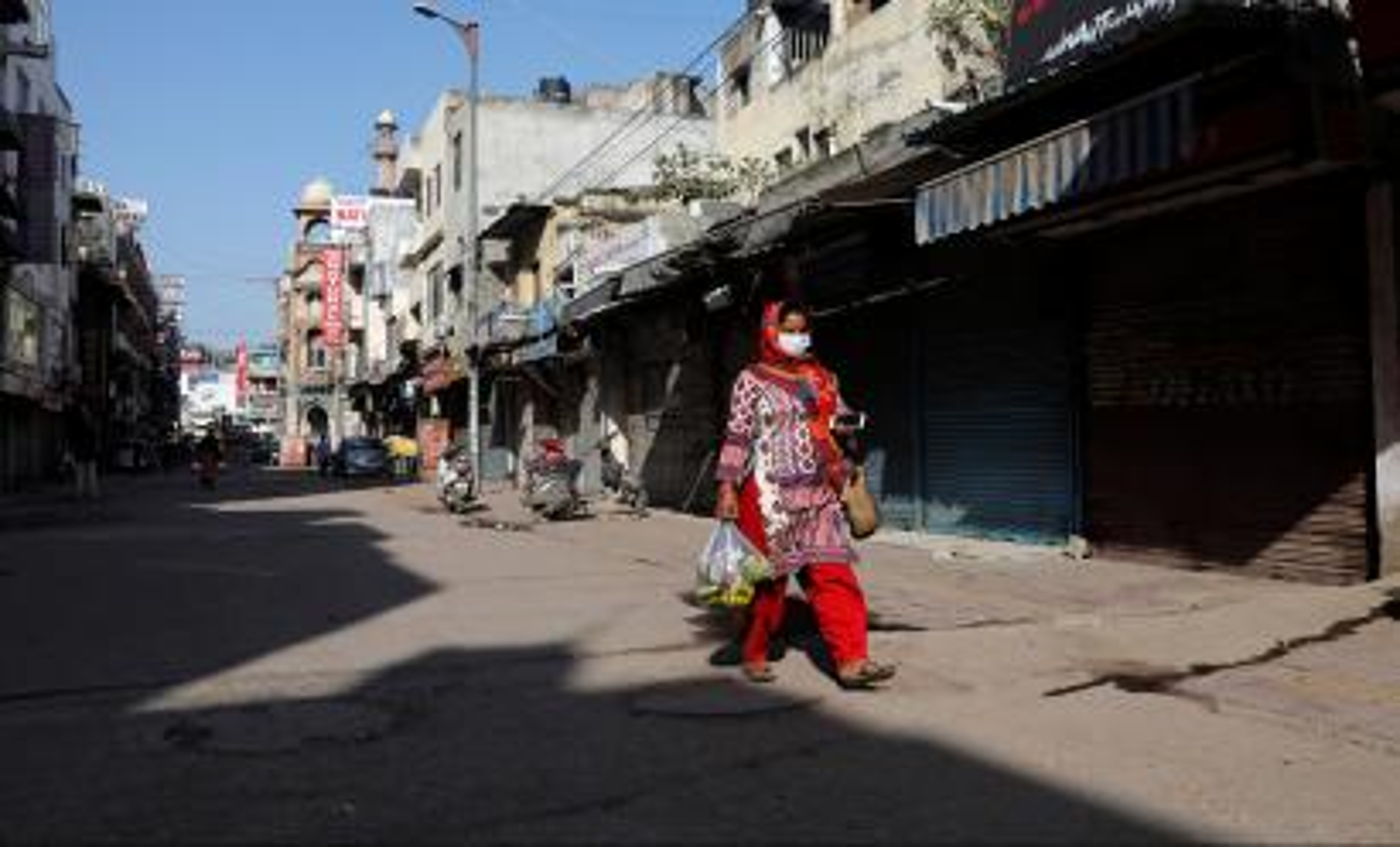 Lockdown amid a coronavirus disease (COVID-19) outbreak in New Delhi