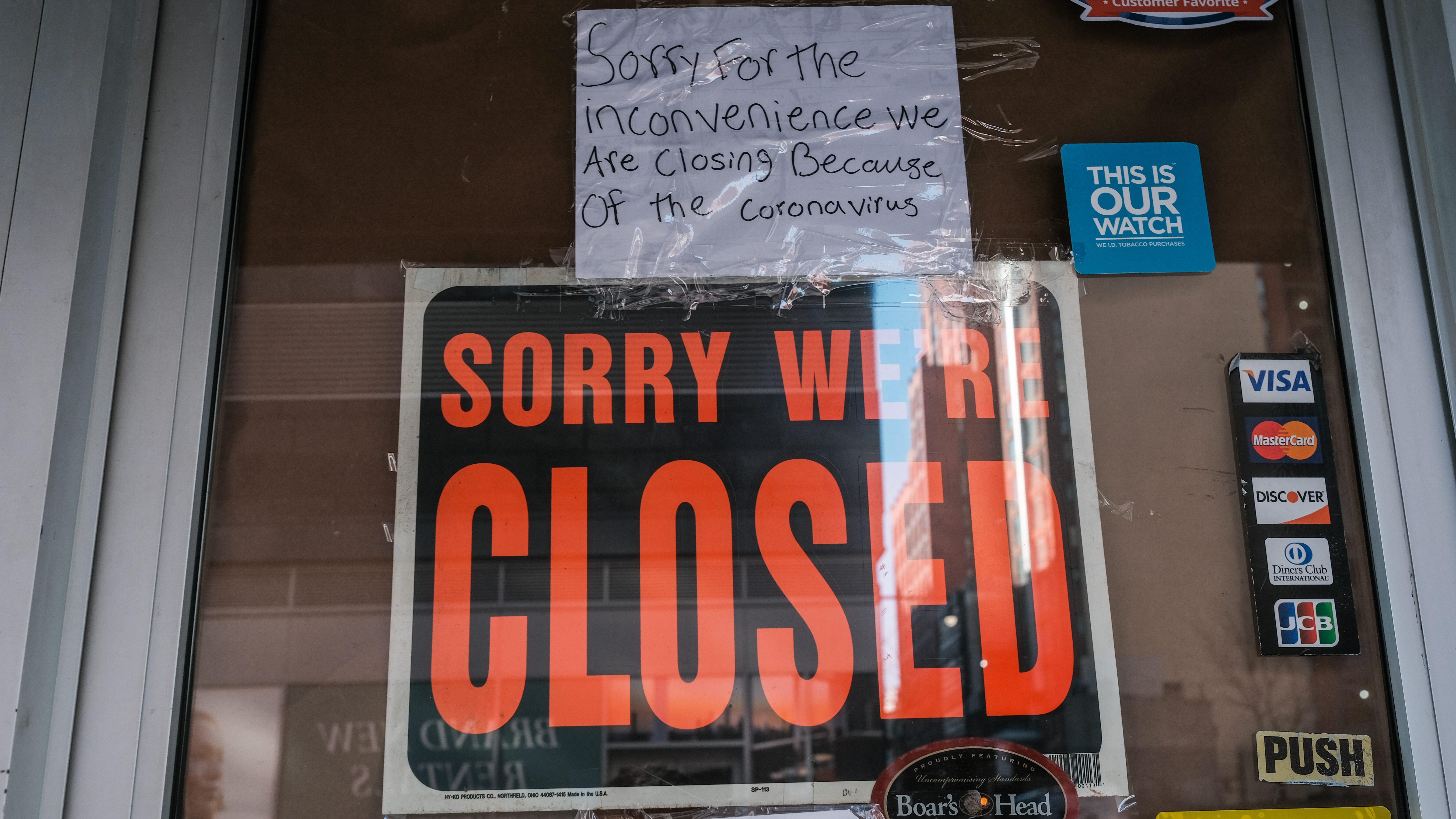 A closed deli.