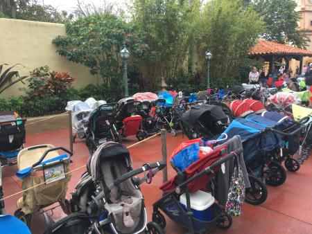The strollers of Disney