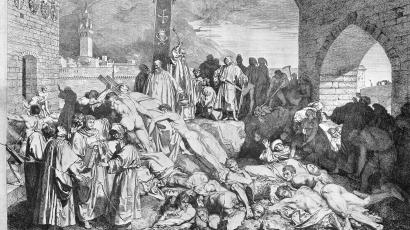 The plague of Florence in 1348, as described in Boccaccio's Wellcome.