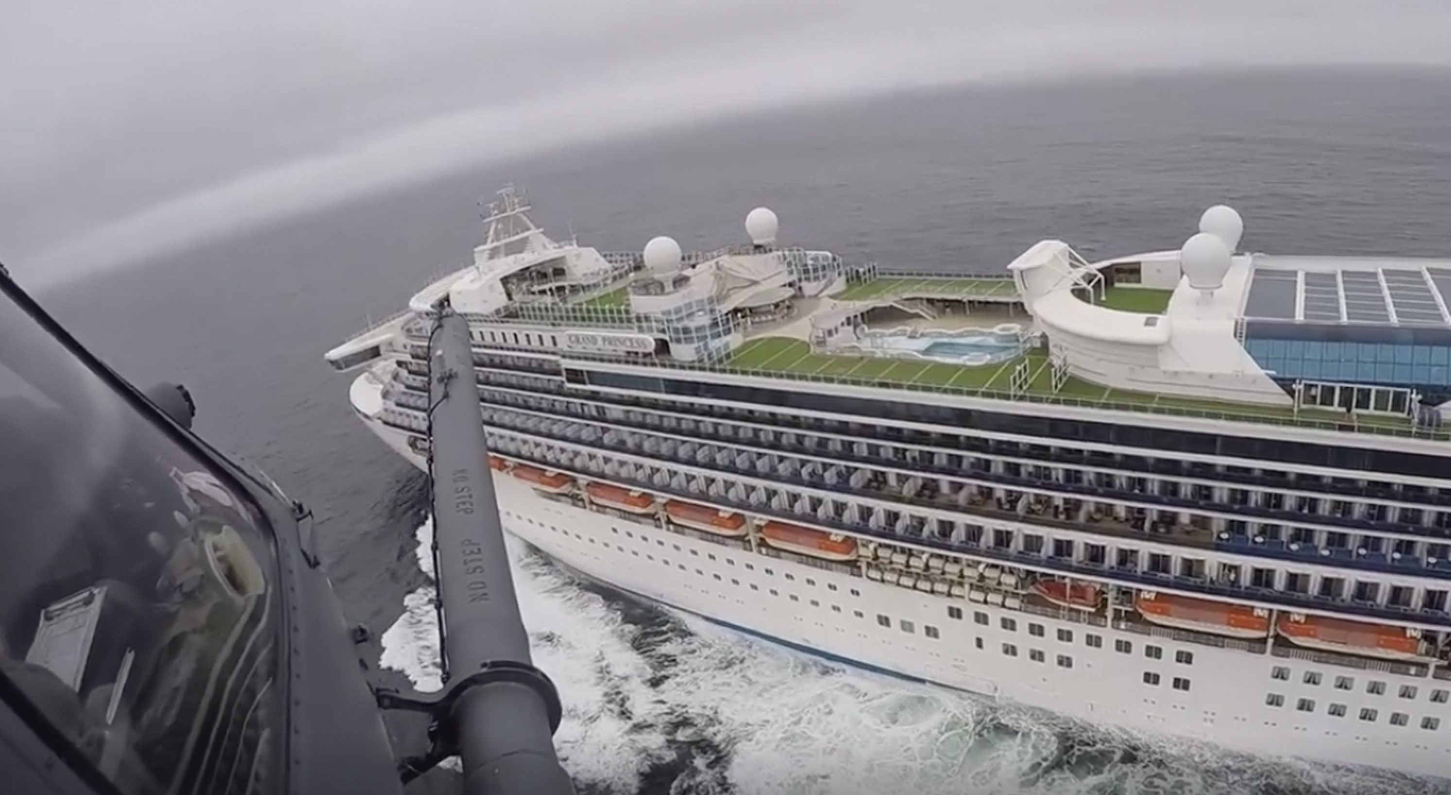 The Grand Princess is contending with Covid-19 infections.