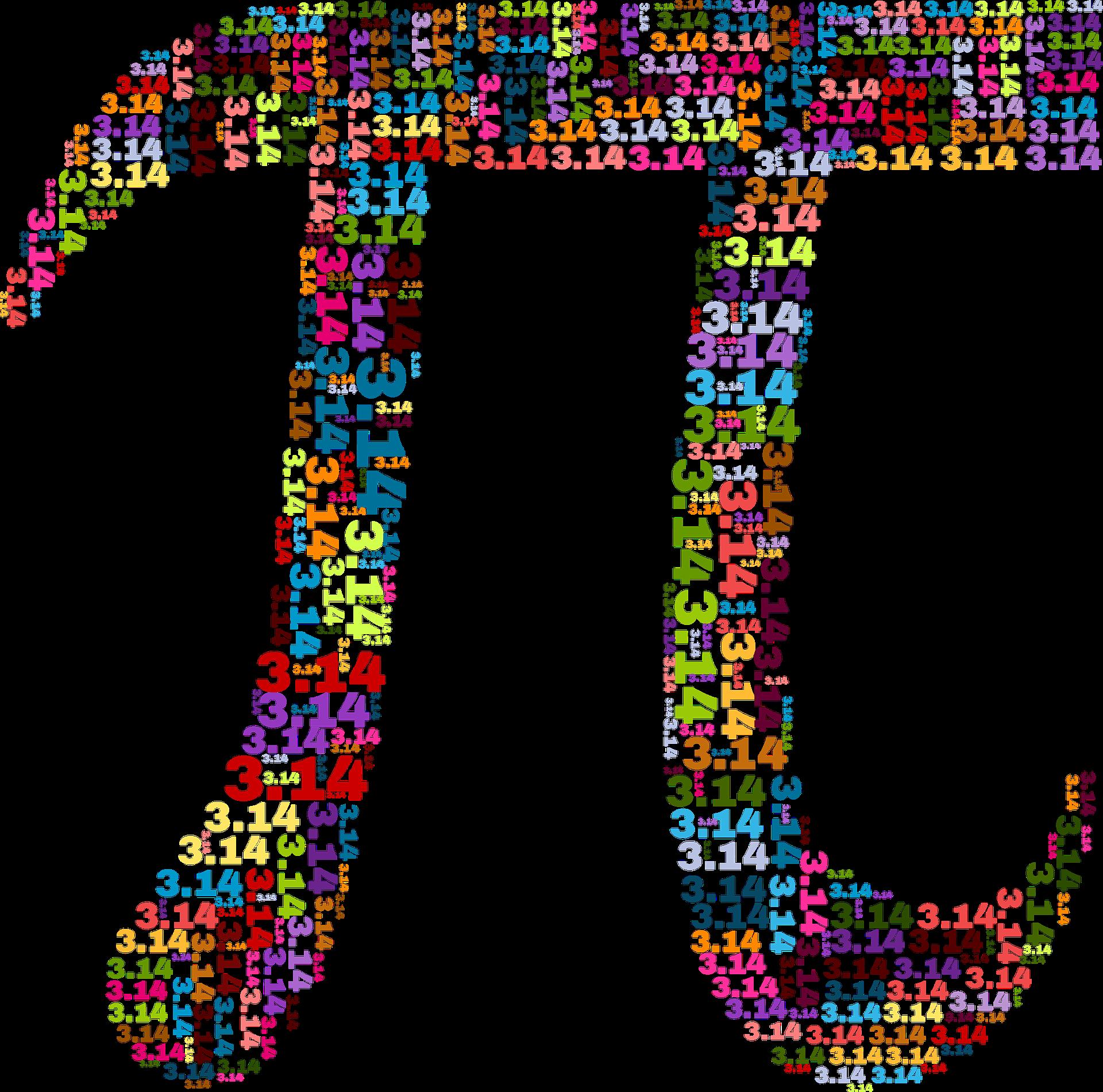 Pi symbol with pi written inside.