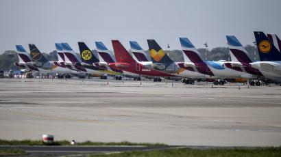 grounded airplanes