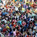 Migrant workers gather in large numbers in Mumbai and protest against being help up amid coronavirus lockdown