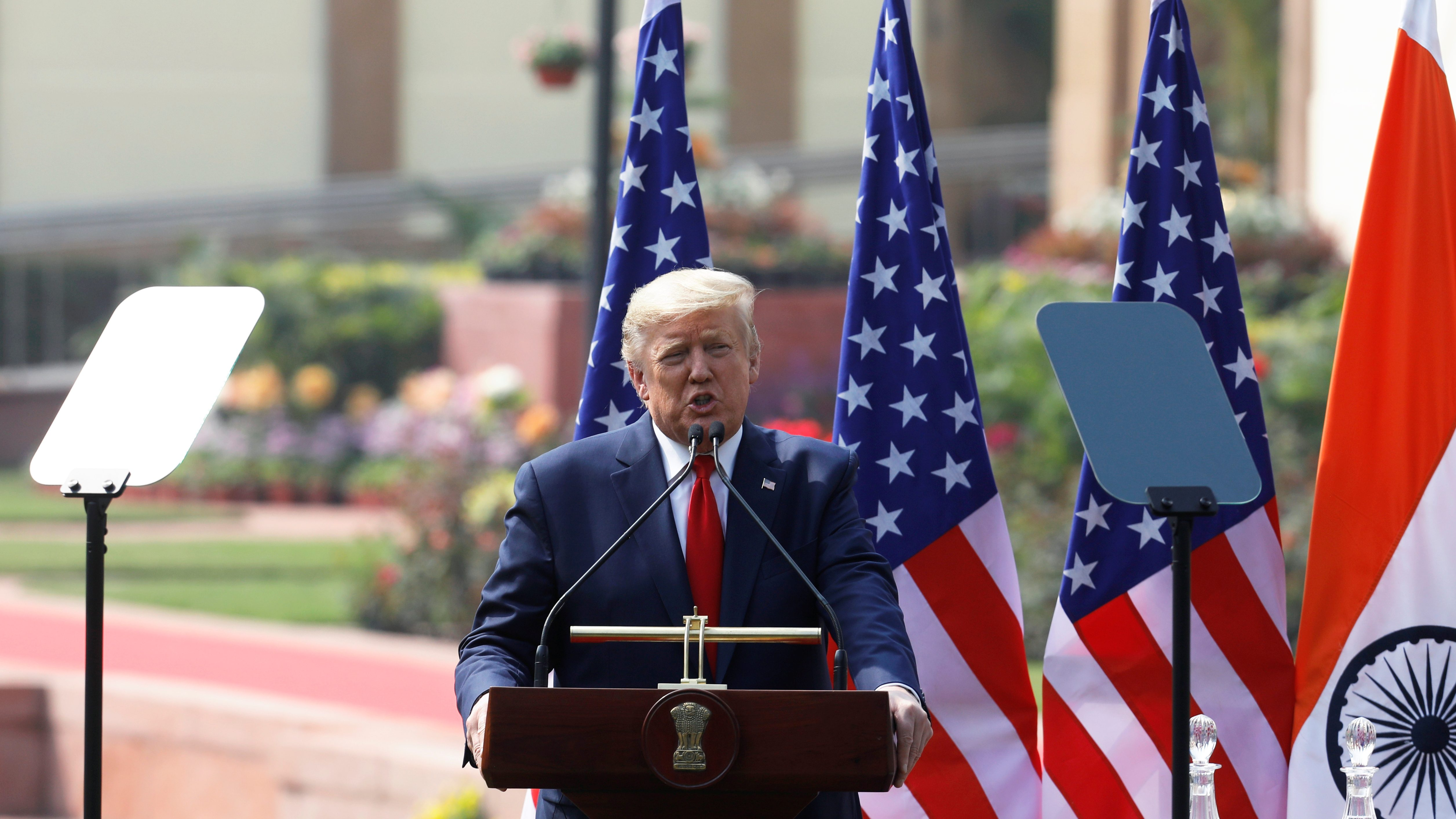 US President Donald Trump visits India