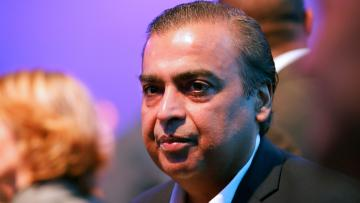 Mukesh Ambani, Chairman and Managing Director of Reliance Industries, attends the World Economic Forum (WEF) annual meeting in Davos