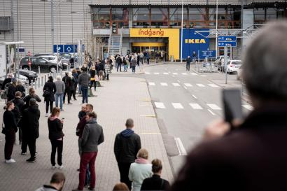Ikea reopens their department store in Gentofte